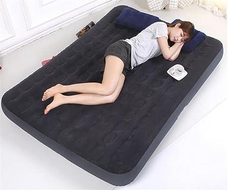 KDGWD LuftmatratzenPortable Camping / Indoor Flocked Camping Quest DOPPEL Air Bed Mit Elektropumpe Schnelle Inflation Komfort