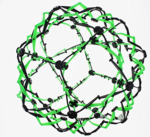 expandable-mini-sphere-ball-neon-green-and-black