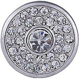 Morella Damen Click-Button Druckknopf mit weißen Zirkoniasteinen