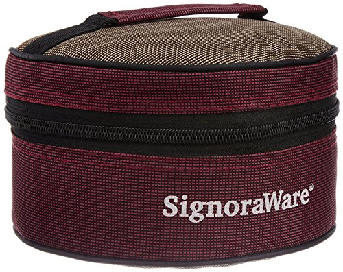 Signoraware Classic Lunch Box Set with Bag, 800ml, Deep Violet at Rs.255 – Amazon