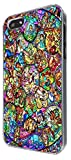 iphone 5 5S All Characters Disney Stained Glass Diamond Design CASE BACK Cover-Clear Frame