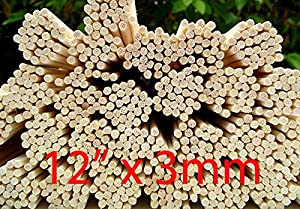 """100 Rattan Reed Diffuser Replacement Sticks 12"""" x 3mm"""