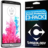 [3-Pack] Caseology LG G3 LCD HD Premium [Crystal Clear] Front Protection Clarity Screen Protector + [Lifetime Warranty] [Made in Korea] (For Verizon, AT&T Sprint, T-mobile, Unlocked)