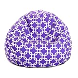 Majestic Home Goods Purple Links Small Classic Bean Bag