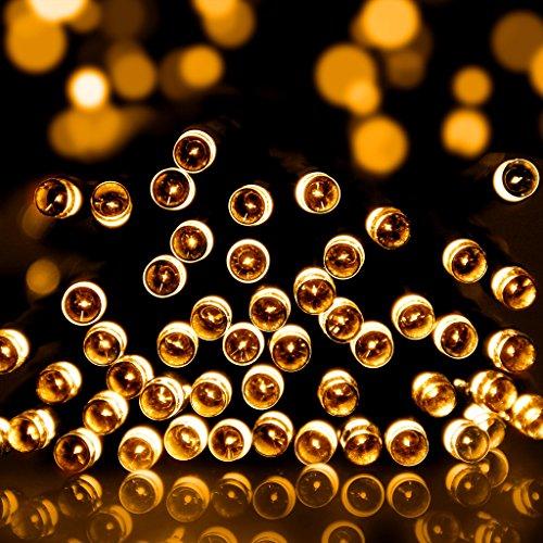 ILLUNITE-feenhafte-Lichter-100-LEDS-33FT-Lichter-mit-langer-Seile-Innen-Auen-Sonnenenergie-Wetterfest-Beruhigend-Dekor-Saisonal-fr-Garten-Feen-Haus-Hof-Rasen-Party-und-Weihnachten-warmwei