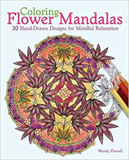 Galerry coloring flower mandalas 30 hand drawn designs for mindful relaxation