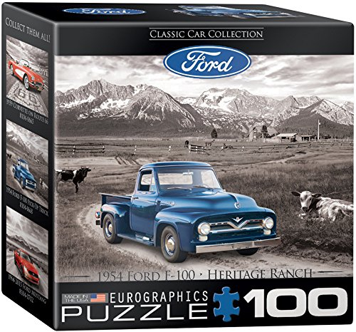 EuroGraphics Ford F 100 Pick Up Truck Mini Puzzle (100 Piece) - 1