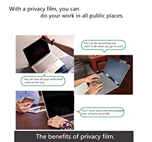 ZOEGAA Surface Pro Privacy Screen for Surface Pro 3/4/5/6[Office Products][Removable] Privacy Screen Surface Pro Compatible with Surface Pro 4/5/6 2018 Release (Tamaño: surface pro 6)