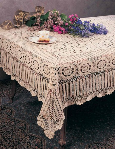Crochet Tablecloth : Table Cloths: Handmade Crochet Lace Tablecloth. 100% Cotton Crochet ...