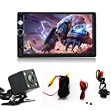 7 Inch Double Din Touch Screen Car Stereo MP5/MP4/MP3 Player FM Radio Car Audio Bluetooth Support Rear View Carmer Remote Control
