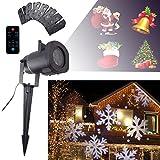 GESIMEI LED Scheinwerfer Draussen 12 Patterns Beamer Lampe für Weihnachten Party