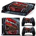 FriendlyTomato PS4 Console and DualShock 4 Controller Skin Set - Soccer Football - PlayStation 4 Vinyl Futbol Manu