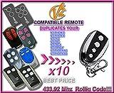 10 X V2 TSC2/TSC4/TRC2/TRC4/TXC2/TXC4/Handy2/Handy4/ Phoenix2/Phoenix4/PHOX2-433/ PHOX4-433 Compatible Remote control transmitter Replacement, clone. Even better quality remote!!!