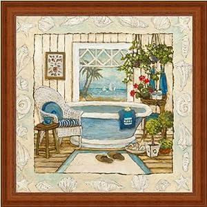 Sea breeze bath i by charlene olson seashell for Bathroom paintings amazon