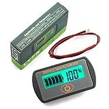 DZS Elec 1-Pack Battery Capacity Monitor 5-70V Battery Real-Time Capacity and Voltage Tester for 2S-15S Lithium Battery 12V 24V 36V 48V Lead Acid Battery Digital State Indicator
