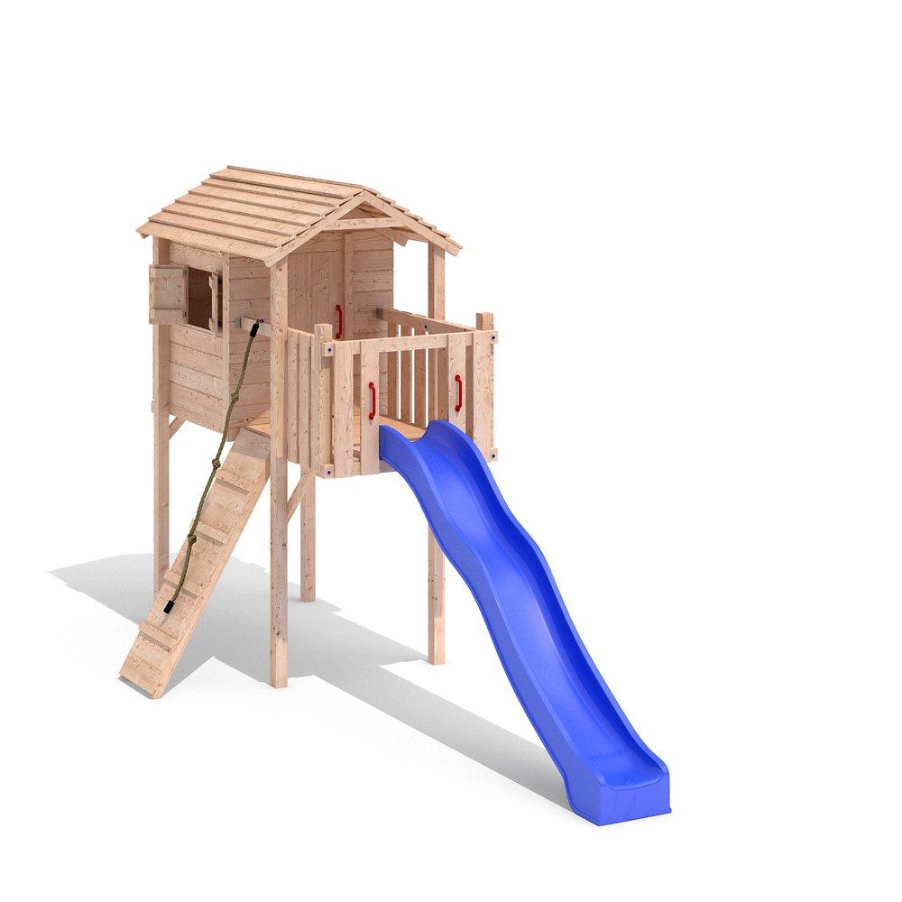 TERRIZIO Mini Stelzenhaus Spielhaus Baumhaus Schaukel Kletterturm Rutsche Holz (ohne Schaukelanbau) online kaufen