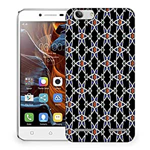 Snoogg Orange Star Pattern Designer Protective Phone Back Case Cover For Lenovo K5 Vibe