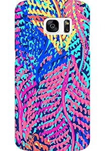 AMEZ designer printed 3d premium high quality back case cover for Samsung Galaxy S7 Edge (abstract flower)