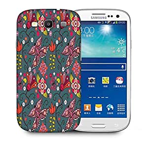 Snoogg Floral Leaves Printed Protective Phone Back Case Cover For Samsung S3 / S III