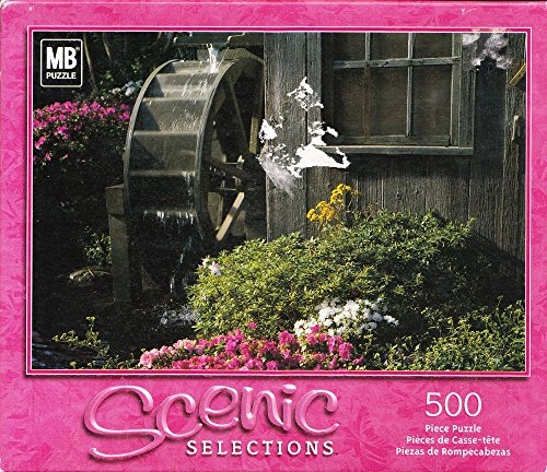 Sceneic Selection Waterwheel Amidst a Garden Mb 500pc Puzzle - 1