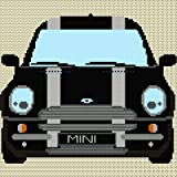 BMW Mini Stripe Cross stitch Chart - black&silver