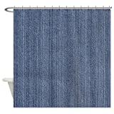 CafePress Blue Denim Jean Shower Curtain - Standard White