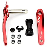 Bike Crank Arm Set CYSKY Mountain Bike Crank Arm Set 170mm 104 BCD with Bottom Bracket Kit and Chainring Bolts for MTB BMX Road Bicyle, Compatible with Shimano, FSA, Gaint (Black/Red) (Red) (Color: Red, Tamaño: 104 BCD)