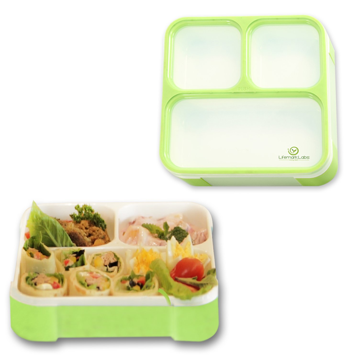 my product reviews leak proof bento lunch box with 3 compartments. Black Bedroom Furniture Sets. Home Design Ideas