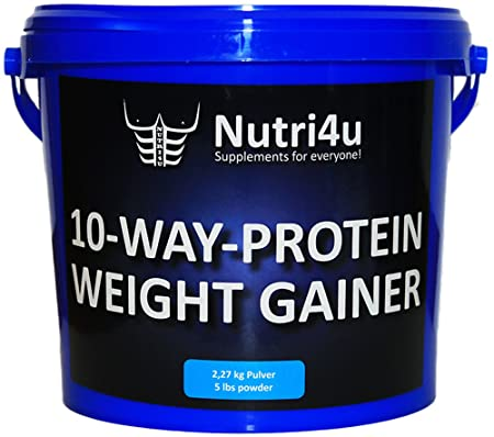 Nutri4u 10-WAY-PROTEIN-WEIGHT-GAINER, Banane, Eiweiß (1 x 2,27 kg)
