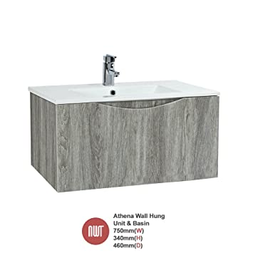 """Athena Avola"" Wall Hung Unit & Basin - 750mm(w) x 340mm(h)"