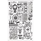 Elements Remnant Rubs by Tim Holtz Idea-ology, 5 x 7 Inches, 2 Sheets, Black/White, TH93057
