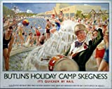 Butlins Skegness (drummer) (old rail ad.) fridge magnet