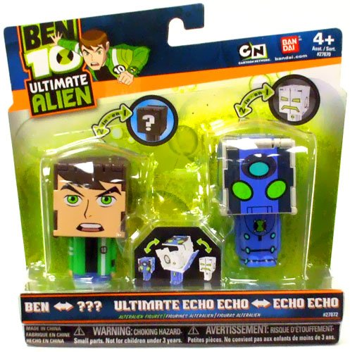 Buy Low Price Bandai Ben 10 Ultimate Alien AlterAlien 2.5 Inch Transforming Action Figures Ben to Rath Echo Echo to Ultimate Echo Echo (B003O5DRC6)