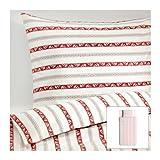IKEA(イケア) PaRLHYACINT 掛け布団カバー&枕カバー ホワイト ストライプ
