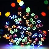 iHOVENLEDソーラーLEDイルミネーションライトクリスマスライトストリングライト200球8モード光センサー内蔵自動ON/OFF防雨防水型屋外アウトドアクリスマスガーデン結婚式パーティー装飾ライト電飾カラフルハロウィンクリスマスツリー雪だるま装飾用ライト