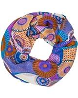 CASPAR Damen Loop / Schlauchschal mit klassisch buntem Paisley Motiv - viele Farben - SC334