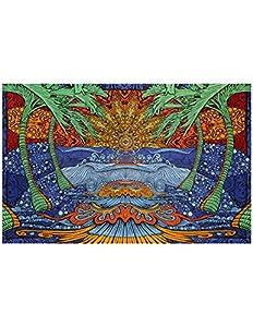 Sunshine Joy 3D Epic Sun & Wave Beach Tapestry