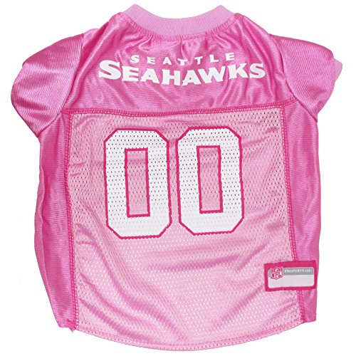 Pets First NFL Seattle Seahawks Jersey, Small, Pink