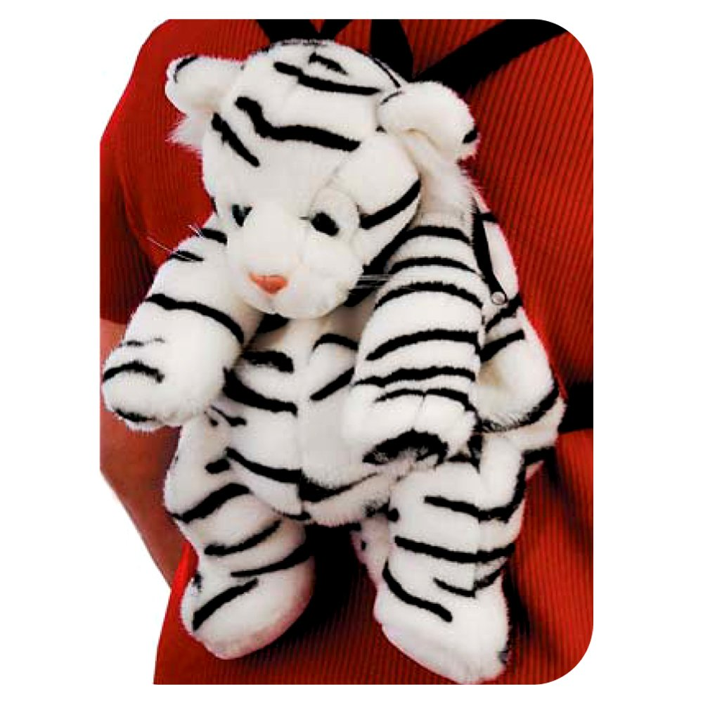 White Baby Tiger Backpack by Fiesta