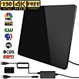 Yeshineah Amplified HD Digital TV Antenna Long 50-80 Miles Range Support 4K 1080p /& All Older TVs Powerful HDTV Amplifier Signal Booster 9.8ft Coax Cable