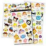 Disney Tsum Tsum Stickers - 4 Sheets of Stickers Featuring Mickey Mouse, Minnie Mouse, also Featuring Tsum Tsum Characters from Frozen, Toy Story, Monsters Inc and Many More