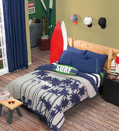 Surf bedding totally kids totally bedrooms kids for Surfing bedroom designs