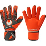 uhlsport AERORED ABSOLUTGRIP Finger Surround Goalkeeper Gloves Size 11 (Color: fluo red, Tamaño: 11)