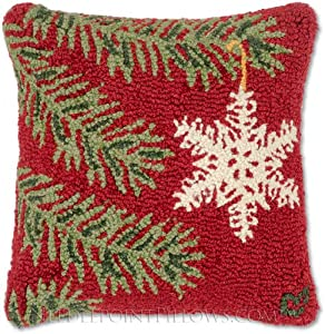Amazon.com - Handmade 100% Wool Hooked Holiday Throw Pillow of