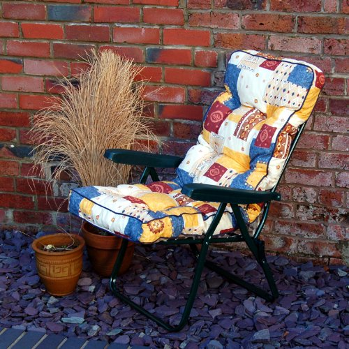 Garden Recliner Chair With Cushion (Atlas Stone)
