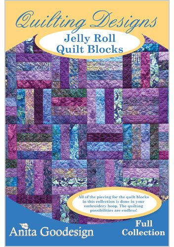 Anita Goodesign-Jelly Roll Quilt Blocks ~ Mix and Match Quilting