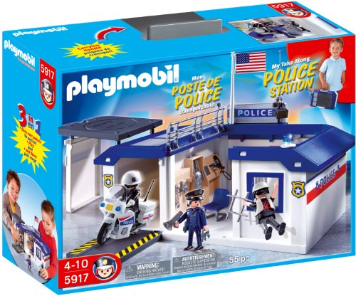 Playmobil Take Along Police Station Playset front-1052407
