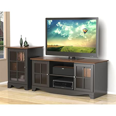 Cinnamon Cherry Black TV Stand With Audio Stand FMP25289