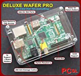 PCSL Brand - Box for Raspberry PI - Deluxe WAFER Professional - Clear - Raspberry pi Case for your Raspberry Pi - FREE UK Delivery from Amazon