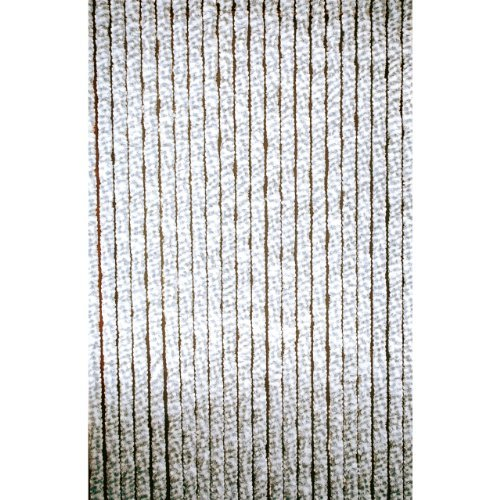 Türvorhang Chenille grau/weiß 90x220cm
